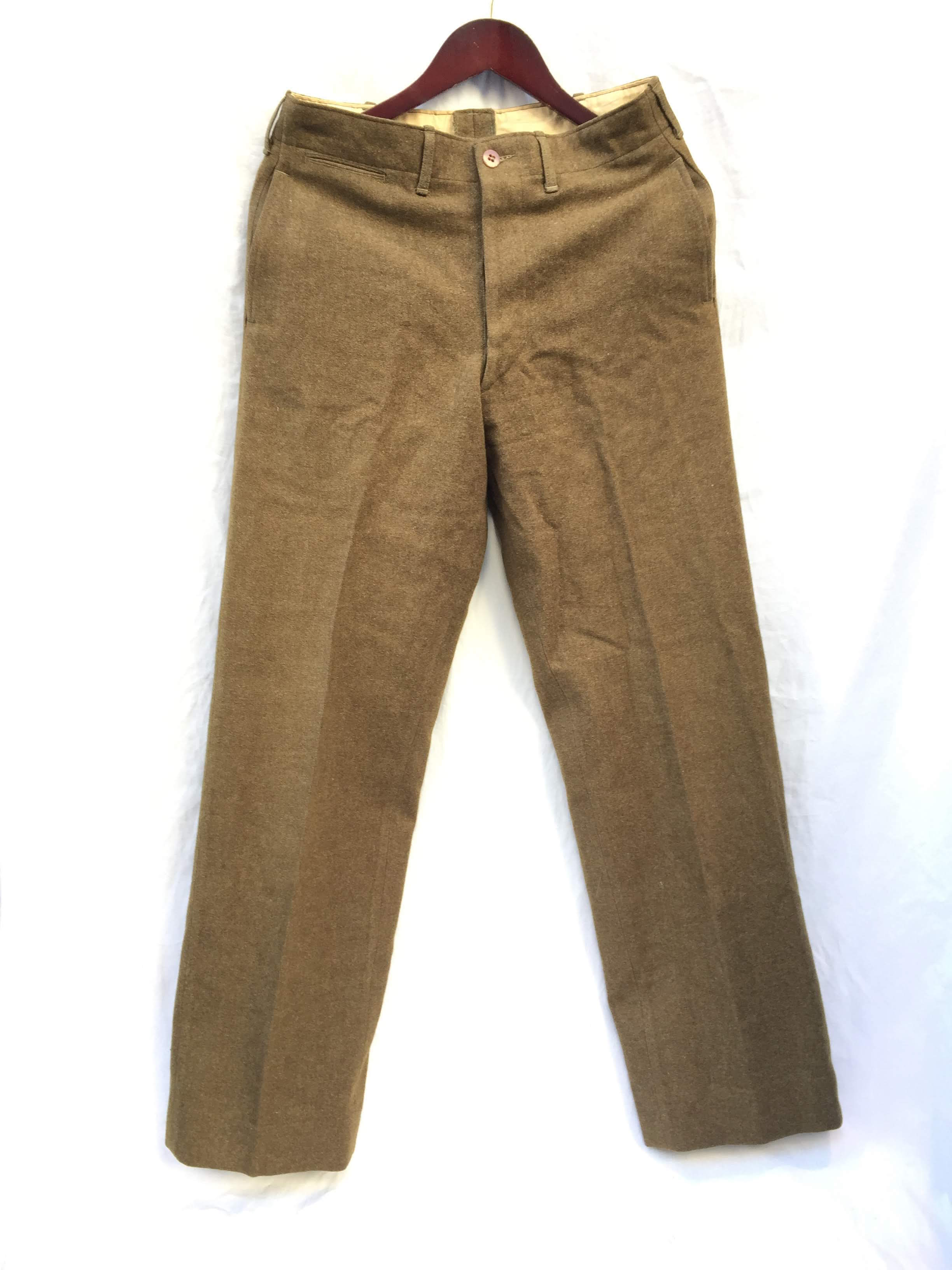 40's Vintage US Army Wool Trousers Good Condition