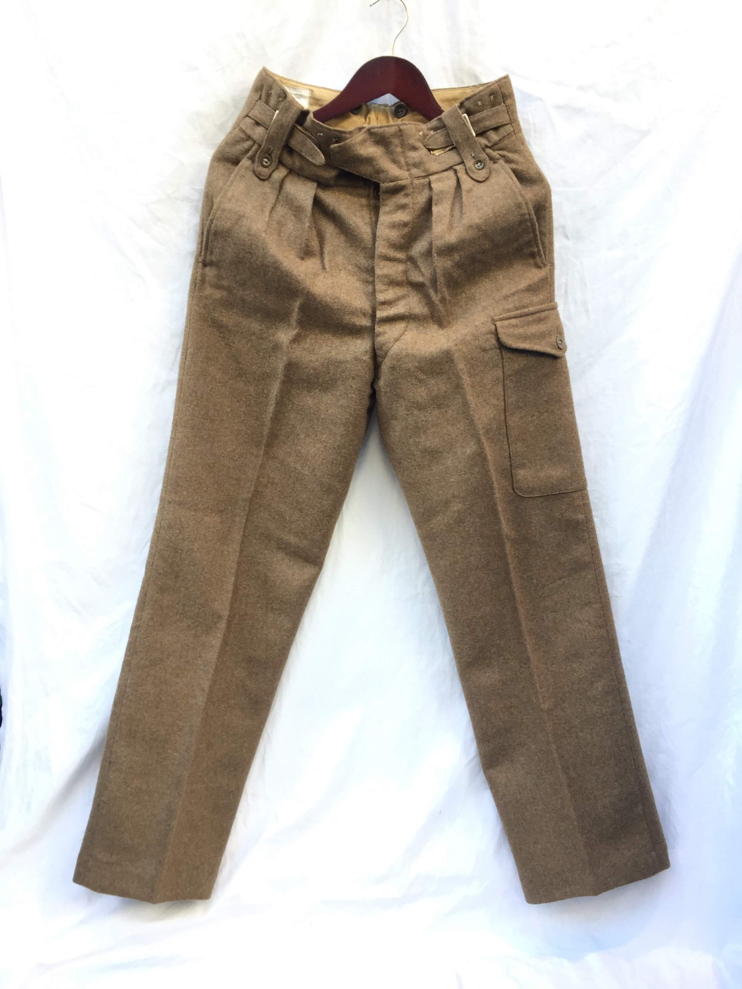 Vintage style Para 72009 1 PAIR REMAKE BRITISH ARMY X-OVER BELT TROUSERS